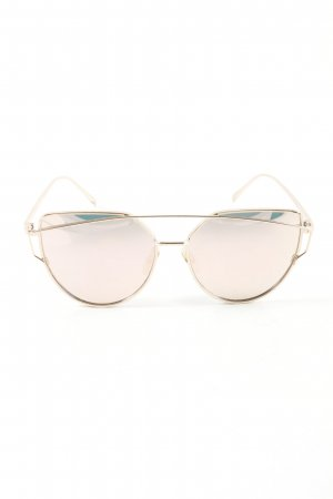 Butterfly Brille goldfarben Casual-Look