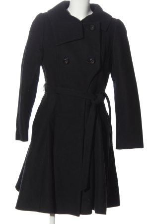 Marynarski płaszcz czarny W stylu casual