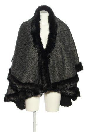 Mantella grigio chiaro-nero puntinato stile casual