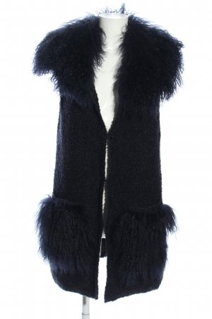 TAVUS MILANO Cardigan schwarz Casual-Look