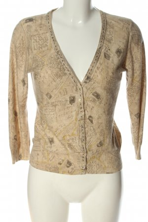guinevere Cardigan creme-braun abstraktes Muster Casual-Look