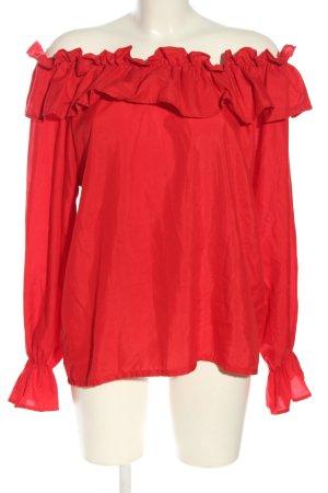 Blusa alla Carmen rosso stile casual