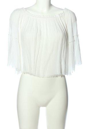 Blusa alla Carmen bianco stile casual