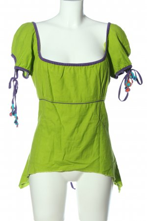 dancing shiua Blusa alla Carmen verde stile casual