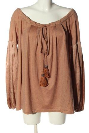 Top épaules dénudées brun style décontracté