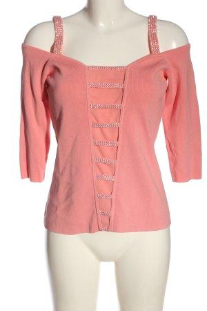 Koszula typu carmen różowy W stylu casual