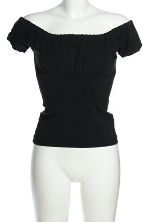 Dovima Paris Camisa tipo Carmen negro look casual