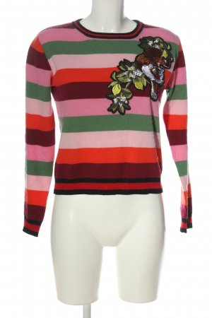Pullover in cashmere motivo a righe stile casual