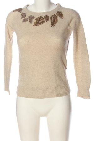 Cashmere Jumper cream casual look