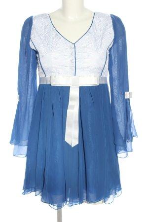 Chiffonkleid blau-weiß Elegant