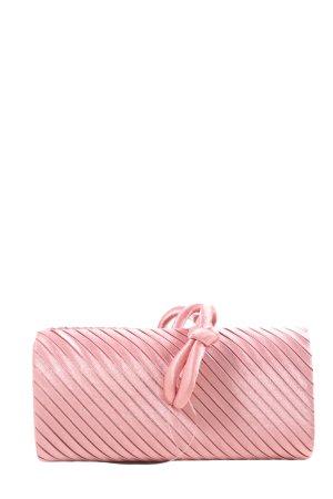 Clutch pink Streifenmuster Elegant