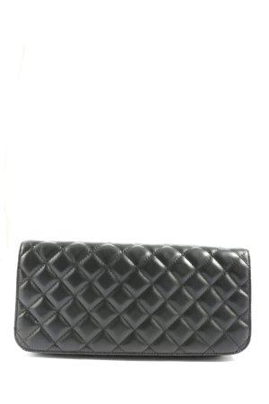 Clutch zwart quilten patroon casual uitstraling