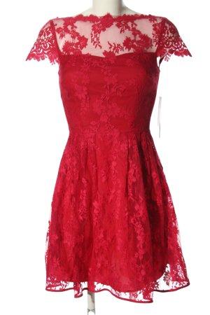 Cynthia Steffe Cocktailkleid rot Blumenmuster Elegant