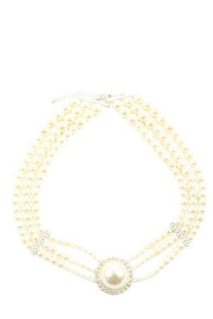 SHA Collar estilo collier crema-color plata look casual