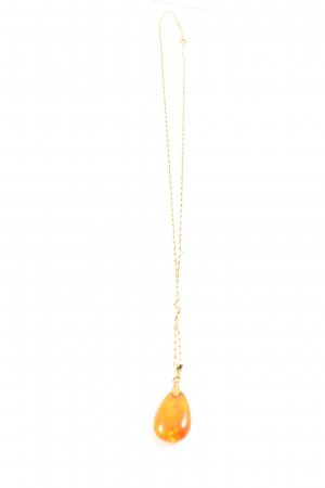 Collier goldfarben-hellorange Elegant