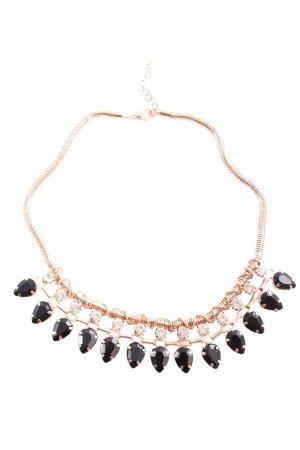 Collier goud-zwart elegant