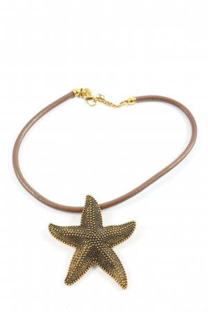 Collier oro-marrone elegante