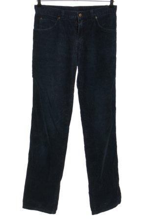 Pantalone di velluto a coste blu stile casual