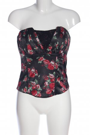 Haut type corsage motif de fleur style décontracté