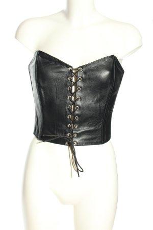 Corsage Top black extravagant style