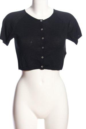 T-shirt court noir style décontracté