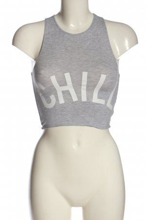 Cropped Top light grey flecked casual look