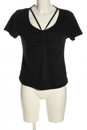 Cropped Shirt black casual look