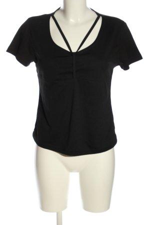 Cropped shirt zwart casual uitstraling