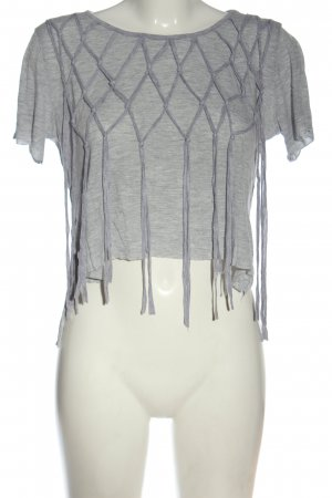 Cropped Shirt light grey flecked casual look