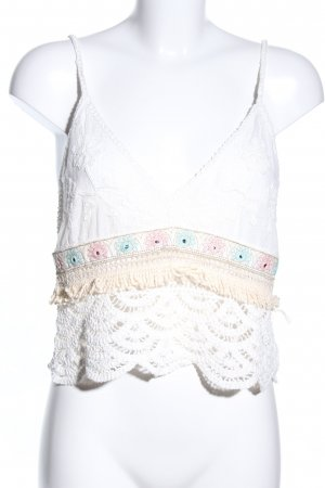 Cropped Top weiß-creme Casual-Look