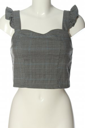 browny Cropped Top Karomuster Casual-Look