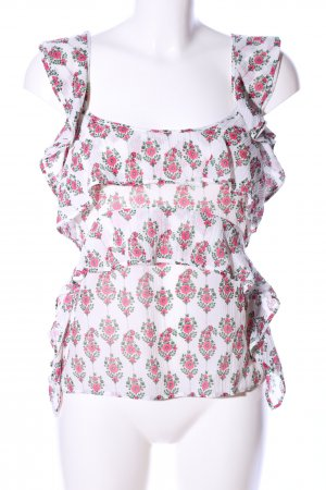 Cropped Top Blumenmuster Casual-Look