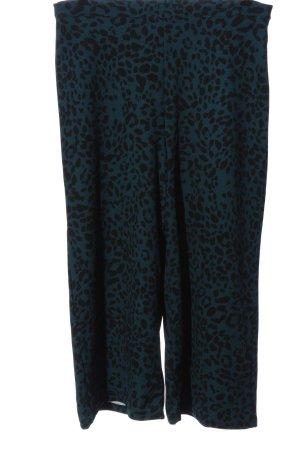 miss L Falda pantalón de pernera ancha turquesa-negro look casual