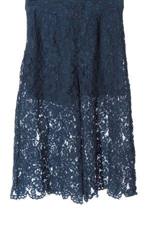 Yang Li Falda pantalón de pernera ancha azul look casual