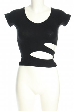 Top cut-out nero stile casual