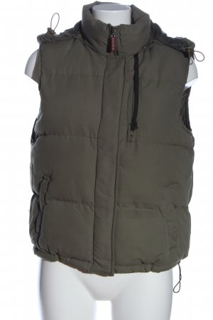 Sami Down Vest light grey quilting pattern casual look