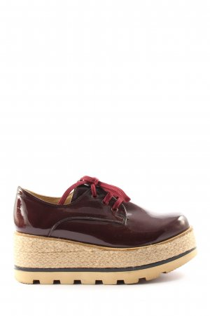 shoe for me Derby braun-creme Casual-Look