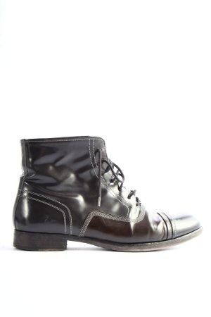 Trzewiki brązowy-czarny W stylu casual
