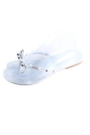 Sandales Dianette argenté style décontracté