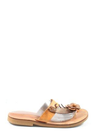 nikos shoes Sandalias Dianette marrón-naranja claro look casual