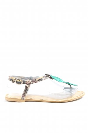Dianette Sandals animal pattern casual look
