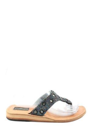 Sandały japonki czarny W stylu casual