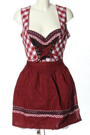 Rose Trachten Dirndl motif à carreaux style classique
