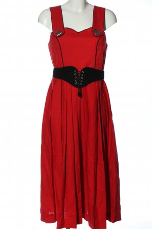 hanne modell Dirndl rosso stile classico