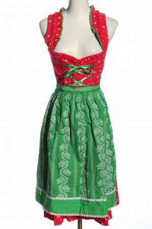 Dirndl red-green graphic pattern elegant