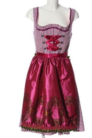 schmittundschafer Dirndl rose-blanc motif à carreaux élégant
