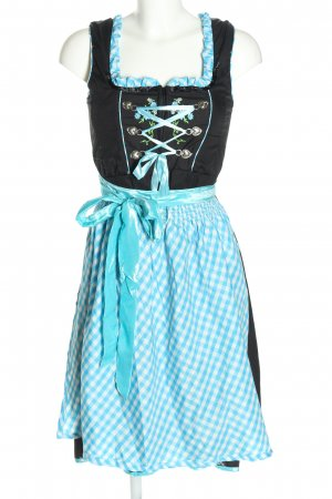 Dirndl check pattern wet-look