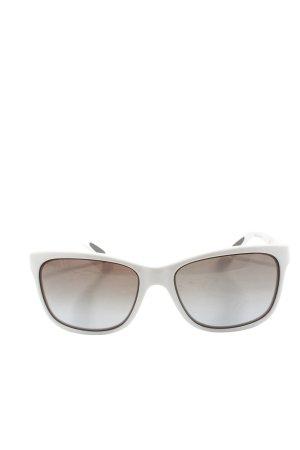 Angular Shaped Sunglasses white elegant