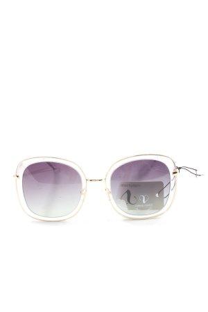 valeria mazza Lunettes de soleil angulaires doré-violet style décontracté