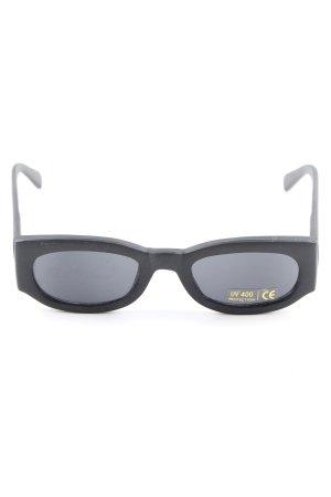 eckige Sonnenbrille schwarz Casual-Look